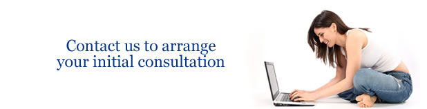 Contact us to arrange your initial consultation